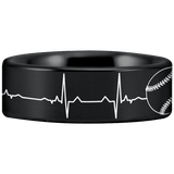Tungsten Baseball Lifeline Ring