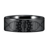 Silver Tungsten Cycler Ring