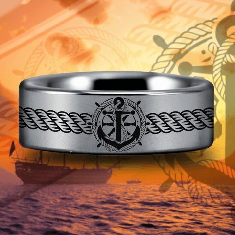 Tungsten Sailor Ring