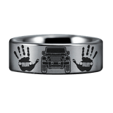 Silver Tungsten Jeepaholic Ring