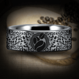 Silver Tungsten Coffee Lovers Ring