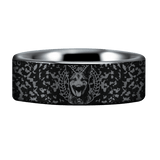 Silver Tungsten K9 Ring