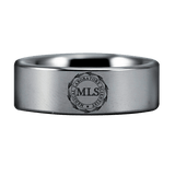 Black and Silver Tungsten MLS Ring
