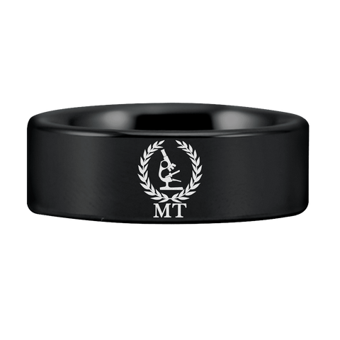 Black and Silver Tungsten MT Ring