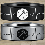 Tungsten Basketball Lifeline Ring