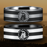 Tungsten Don't Tread On Me Ring