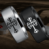 Tungsten Celtic Faith Cross Ring