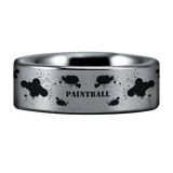 Silver Tungsten Paintball Ring
