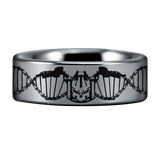 Silver Tungsten Biker for Life Ring