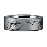 Silver Tungsten Toxophilite Ring