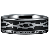 Tungsten Crown of Thorns Ring