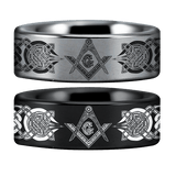 Tungsten Masonic Ring