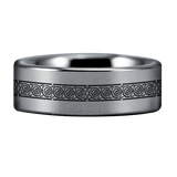 Tungsten Virgo Zodiac Ring
