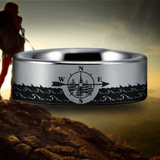 Silver Tungsten Traveller's Ring
