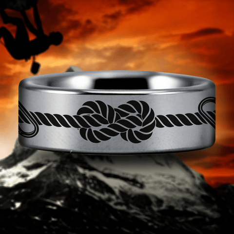 Silver Tungsten Climber's Ring