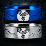 Tungsten Owl Lover's Ring