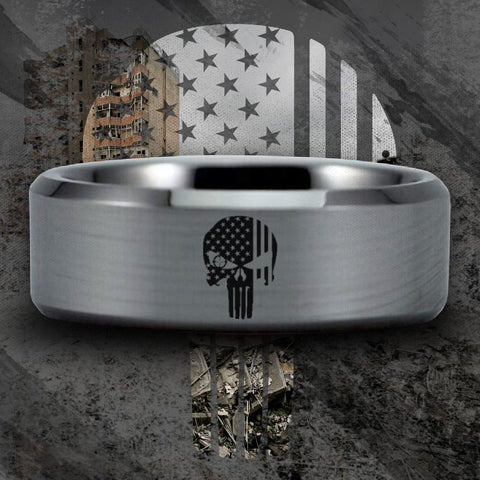 Silver Tungsten Hunter Ring 3 for Price of 2