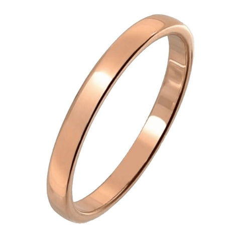 Jewelry - Gold Flat Tungsten Wedding Ring