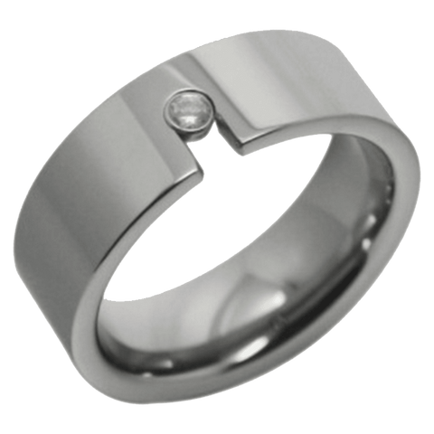 Jewelry - High Polish Silver Tungsten Wedding Ring