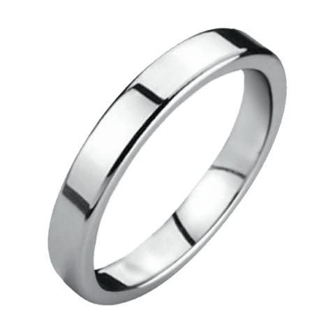 Jewelry - Silver Flat Tungsten Wedding Ring