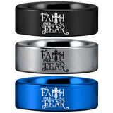 Tungsten Faith Over Fear Cross Ring