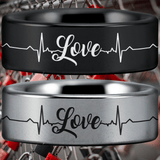 Tungsten Love Ring