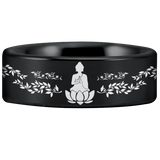 Tungsten Buddhism Ring
