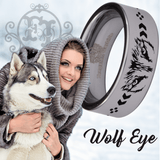 Tungsten Wolf Eyes Ring