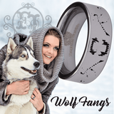 Tungsten Wolf Fangs Ring
