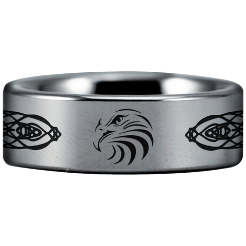 Tungsten Celtic Eagle Ring