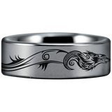 Tungsten Wolf and Dragon Ring