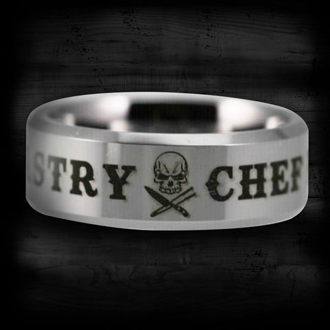 Silver Tungsten Pastry Chef Ring