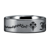 Silver Tungsten Jesus Ring