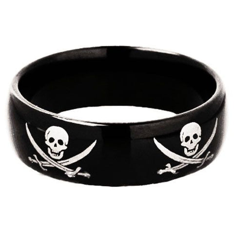 Black Tungsten Pirate Ring - Friends of Irony LLC