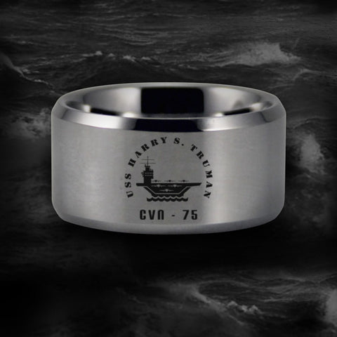 Silver USS Harry S. Truman CVN - 75 Ring