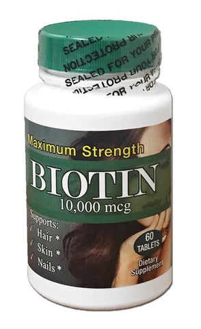 Biotin Maximum Strength 10,00.00 mcg