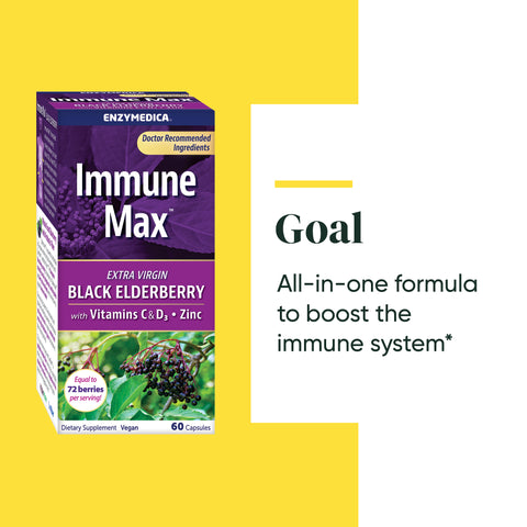 Immune Max™ Black Elderberry with Vitamins C & D3 + Zinc