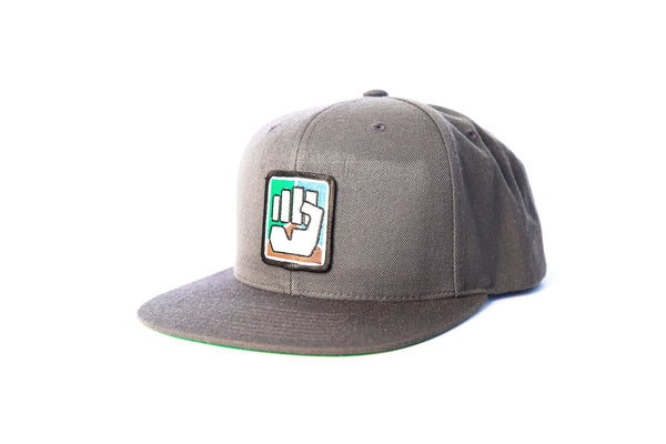 Snapback Logo Hat - Grey