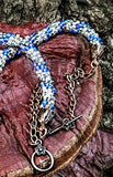 Cooper and Blue Nature Rope Necklace