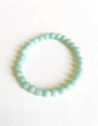 Amazonite 6 mm Facet