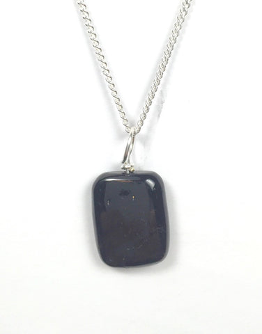 Black Tourmaline Rectangle Pendant
