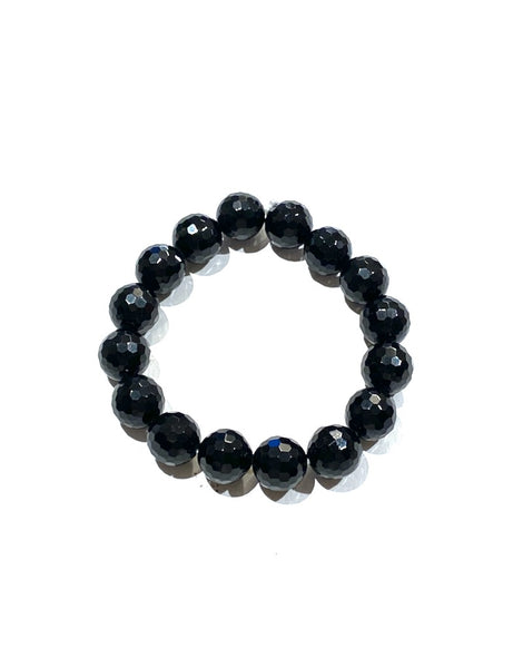Black Tourmaline - 12mm Facet