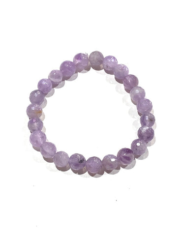 Amethyst  Lavender - 8mm Facet
