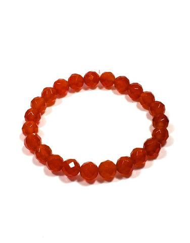Carnelian - 8mm Facet