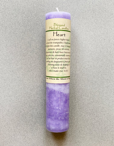 SPELL - TALL CANDLE - HEART