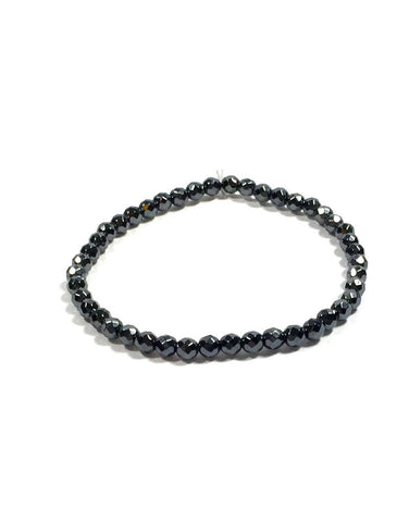 Hematite -  4 mm Facet