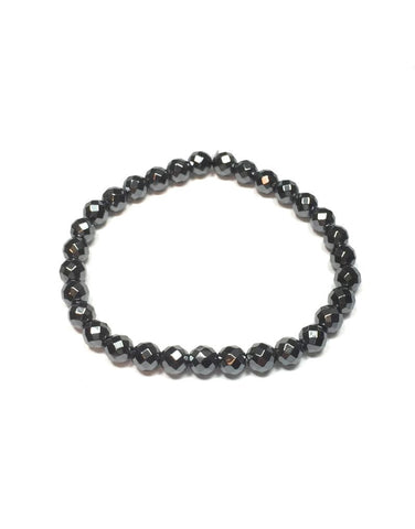 Hematite - 6mm Facet
