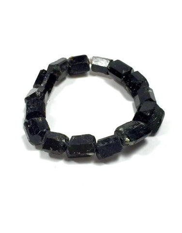Raw Chunky Black Tourmaline Bracelet