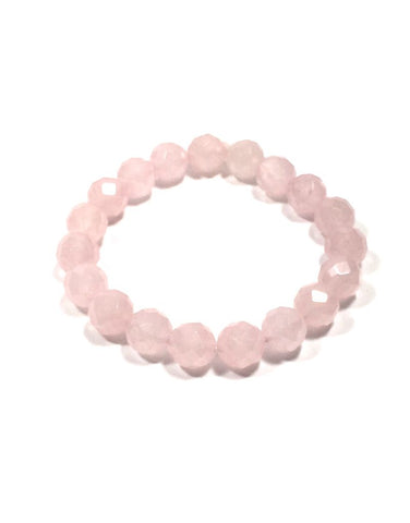 Rose Quartz 10 mm Facet