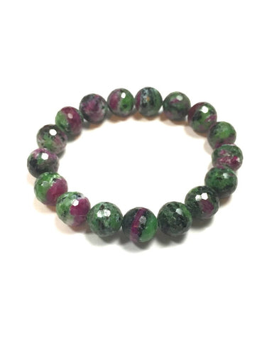 Ruby in Zoisite - 10 mm Facet